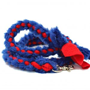 fur braid leash